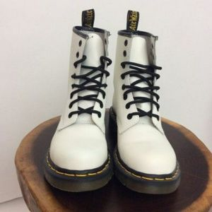 Dr. Martens W size 8 White Boots.